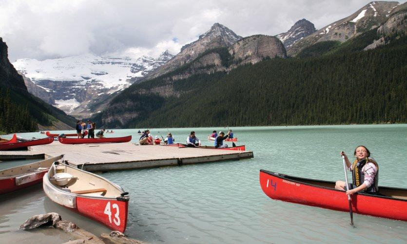 Naturaleza salvaje en las Montañas Canadienses