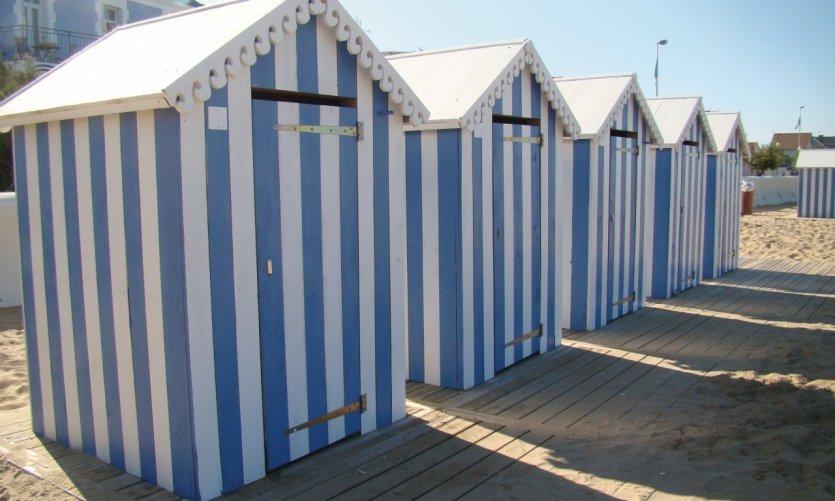 Cabines de plage à Châtelaillon-Plage