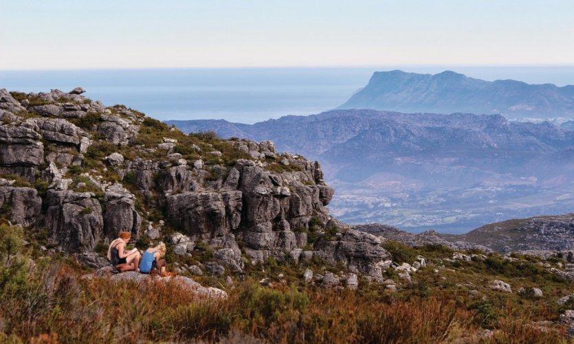 Au sommet de Table Mountain