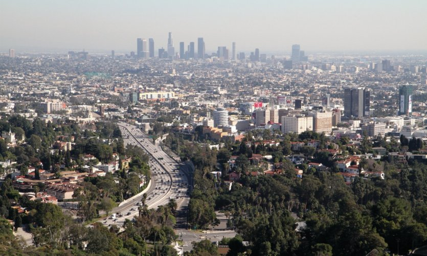 <p>Vue panoramique sur Los Angeles.</p>