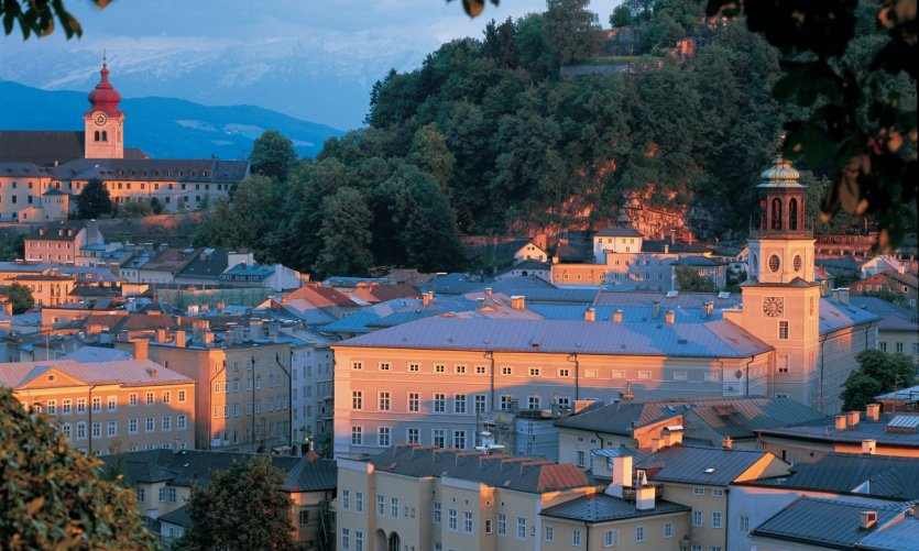 <p>The old town at sunset.</p>