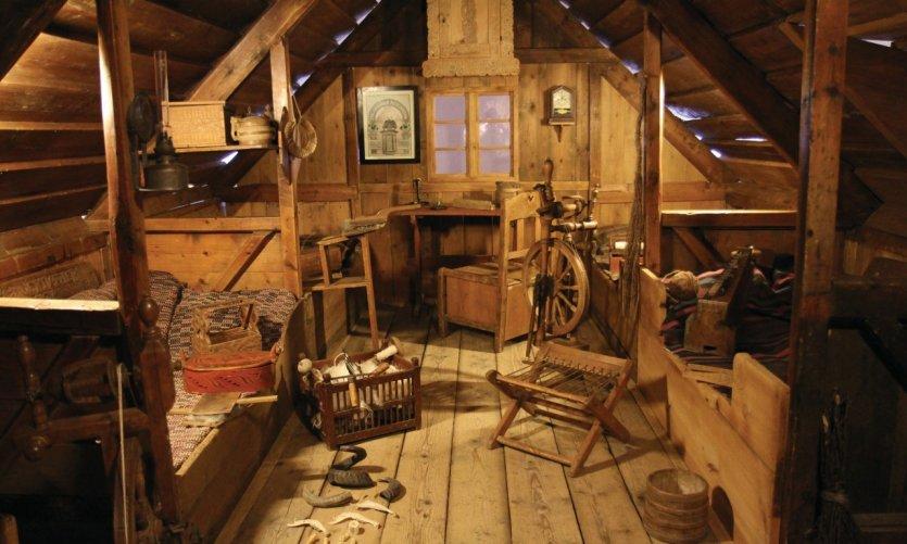 Habitat traditionnel dans le Musée National d'Islande.