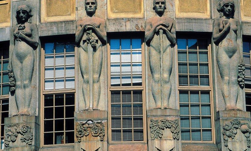 <p>Mannerheimintie, façade Art Nouveau</p>