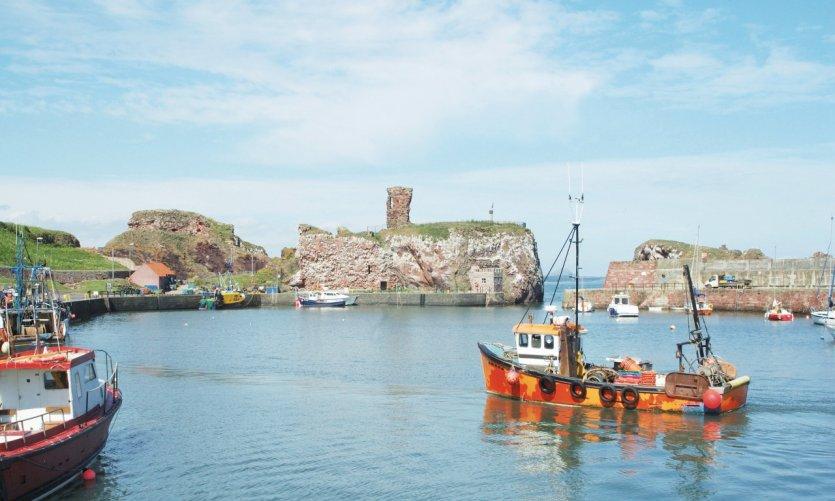 Port et château de Dunbar.