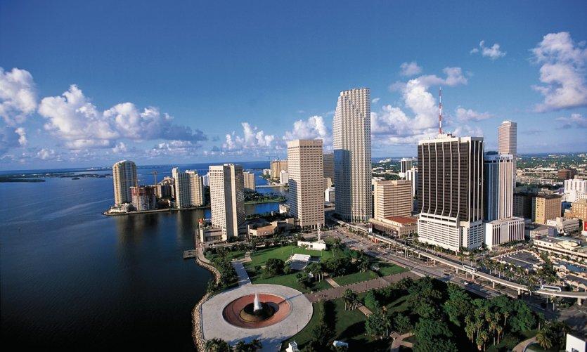 Vue aérienne de Miami.