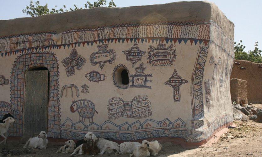 Île d'Ayorou, maison traditionnelle.