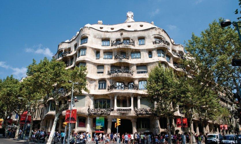 Casa Milà (surnommée La Pedrera), oeuvre de Gaudí.