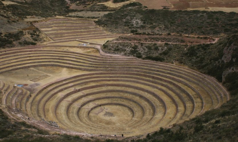 Concentric Moray terraces.