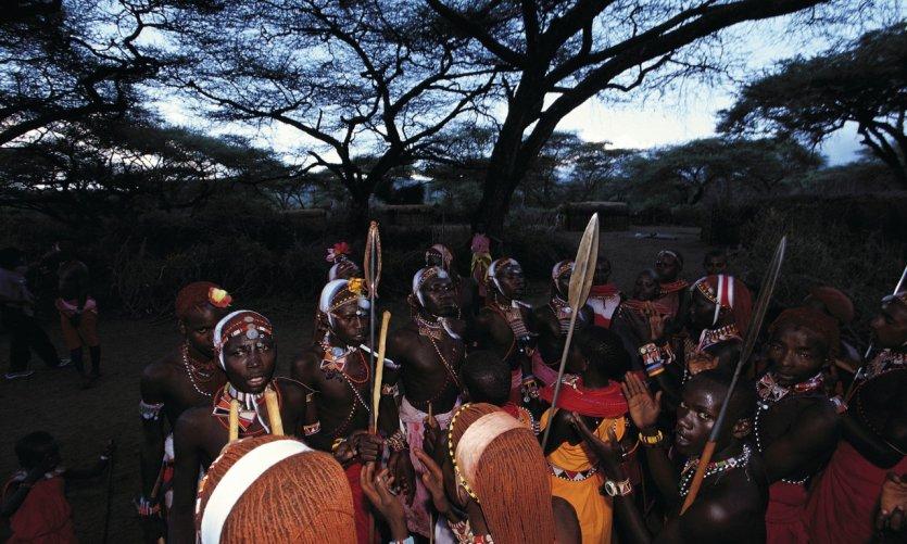 Il Ngwesi, danse et sauts Masaï