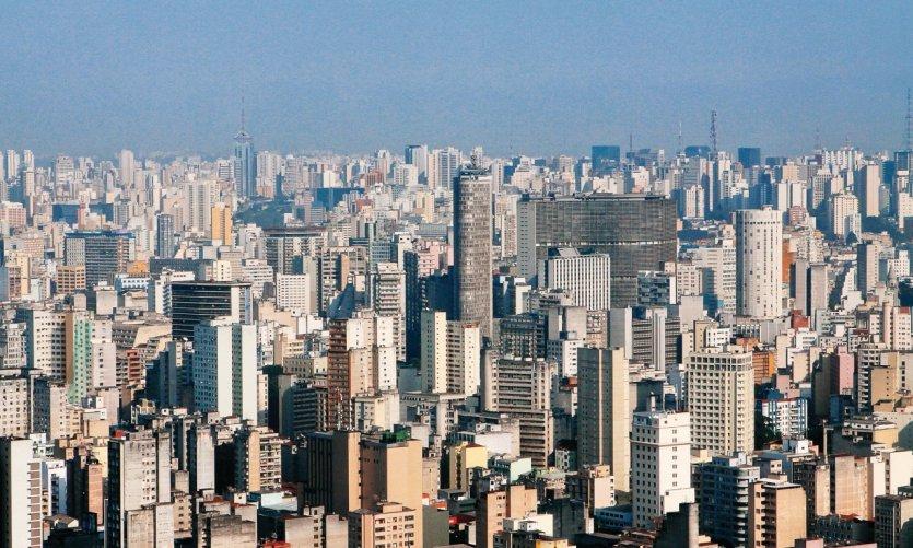 Vue aérienne de Sao Paulo