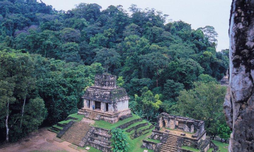 Templo del Sol, site archéologique de Palenque.