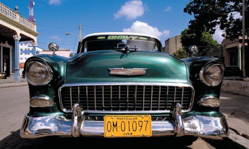 Vieille voiture américaine.