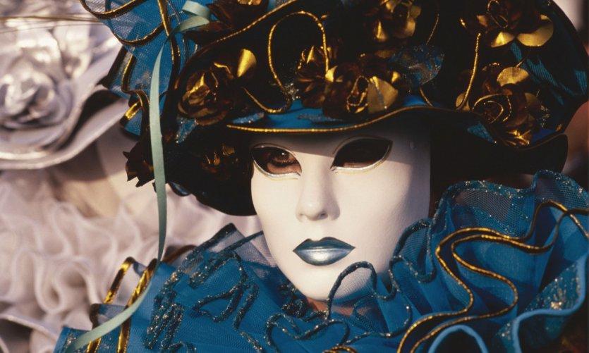 Masques du carnaval de Venise.