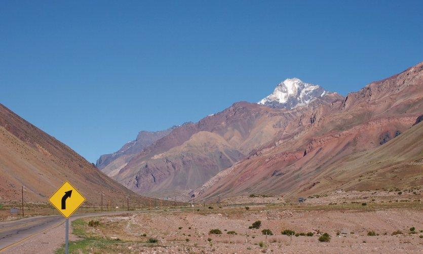 Vue sur l'Aconcagua, Panaméricaine.