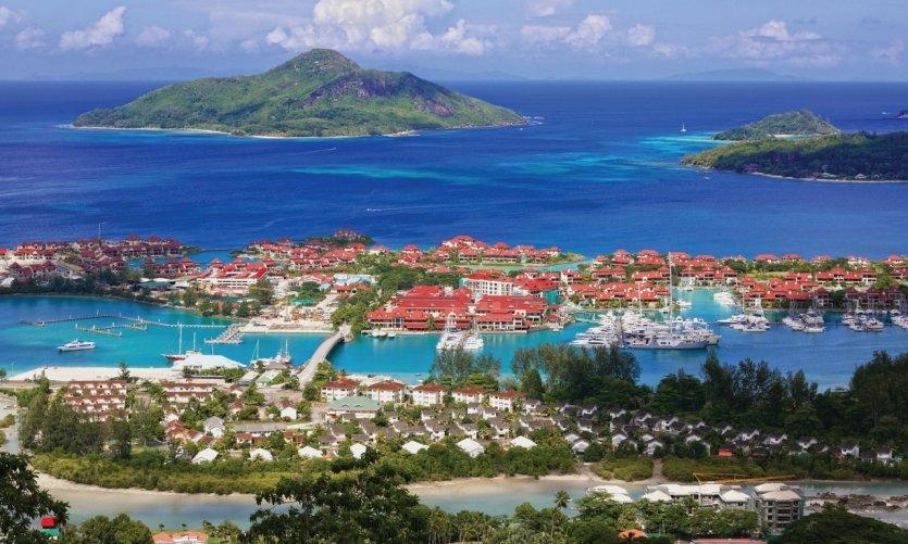 Panorama d'Eden Island et Sainte Anne.