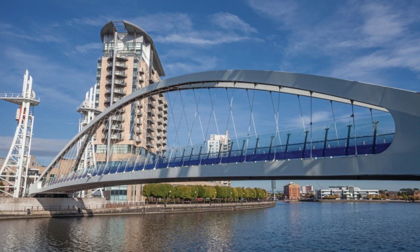 The Millennium Bridge, Manchester.