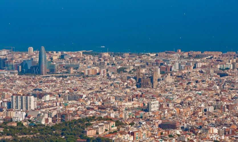Vue de Barcelone depuis le Tibidabo.