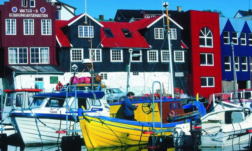 Le port de Tòrshavn.