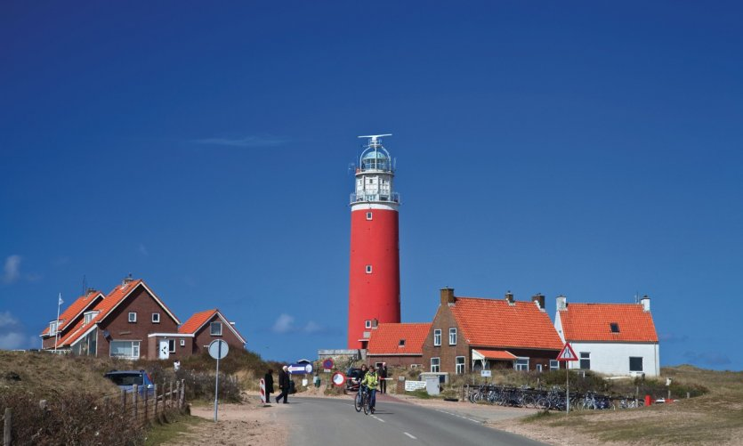 <p>The lighthouse of Texel dominates the island.</p>