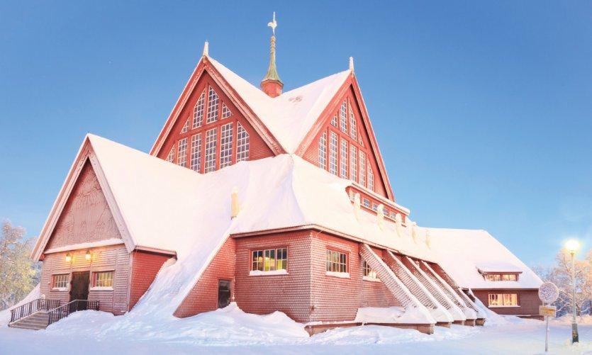 Hôtal enneigé de Kiruna.