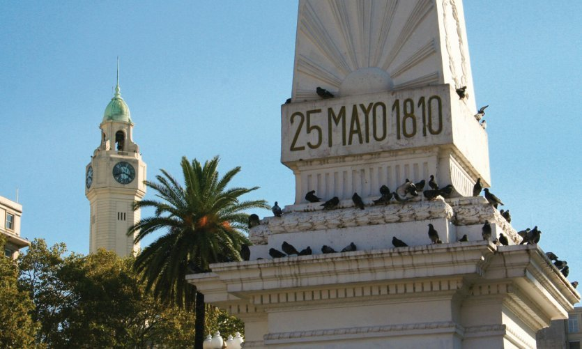 Monument of Plaza de Mayo, in memory of the Argentine revolution of 1810.