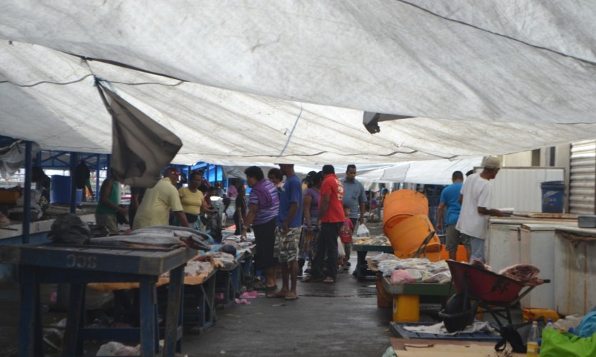 Marché aux poissons à Suva.