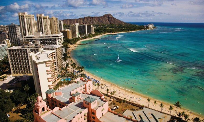 Waikiki beach et Leahi (Diamond Head).