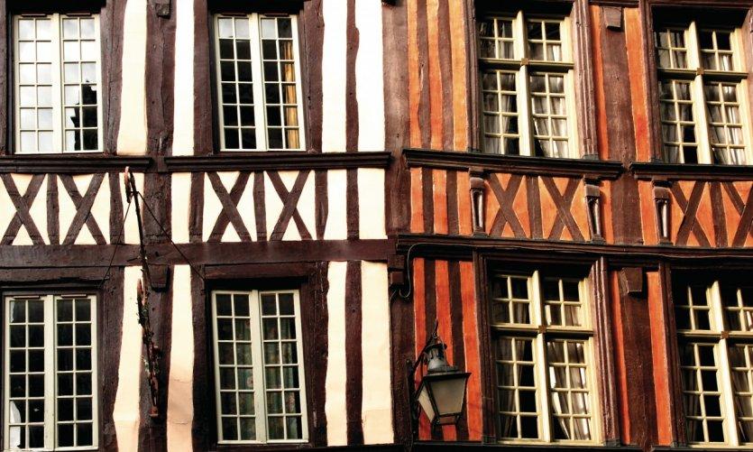 Façades de maisons à colombage à Rouen