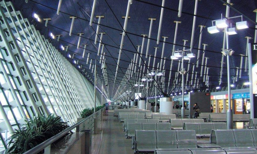 Aéroport de Pudong.