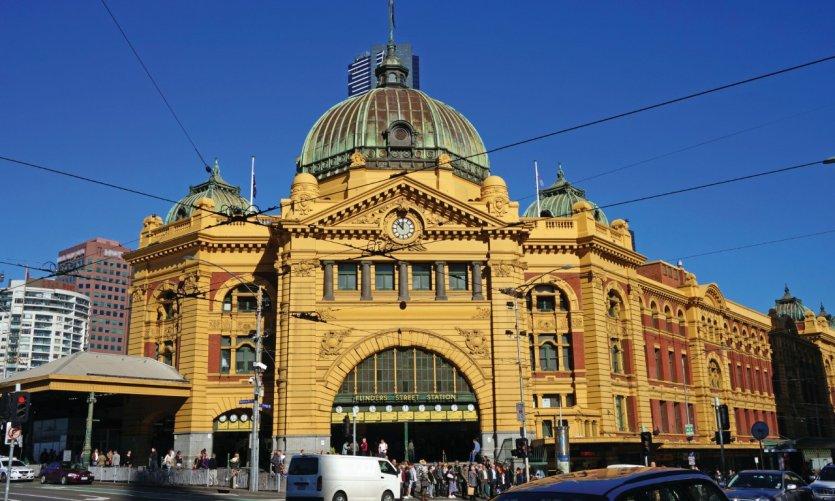 La gare Flinders Street, Melbourne.