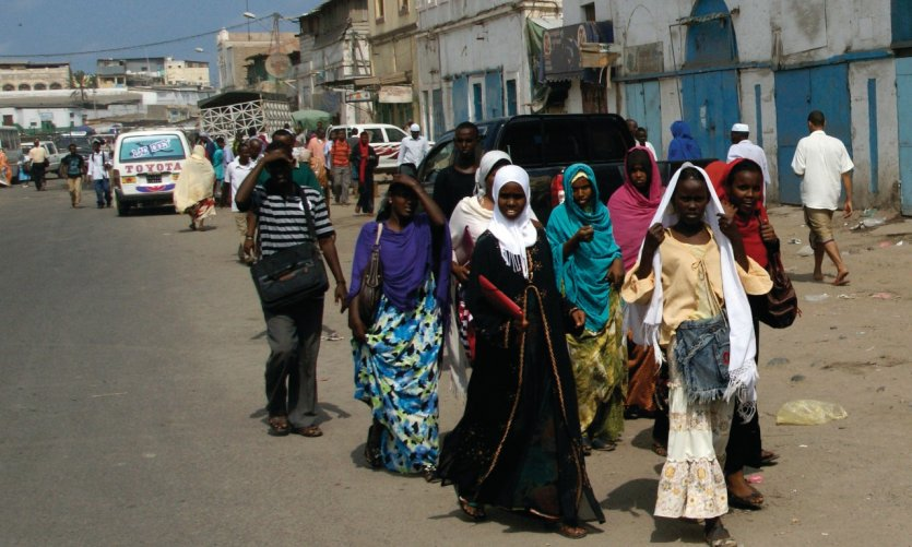 In the streets of Djibouti.