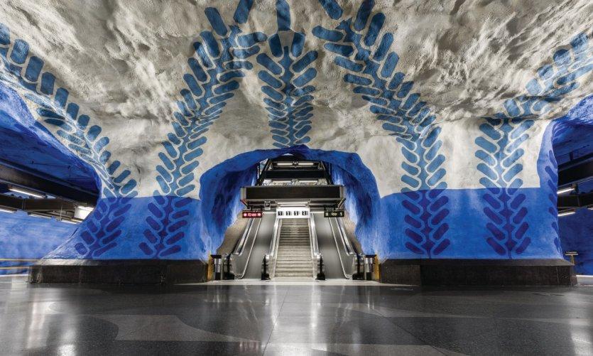 Station de métro T-Centralen.