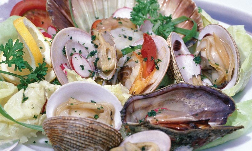 Assiette de fruits de mer.