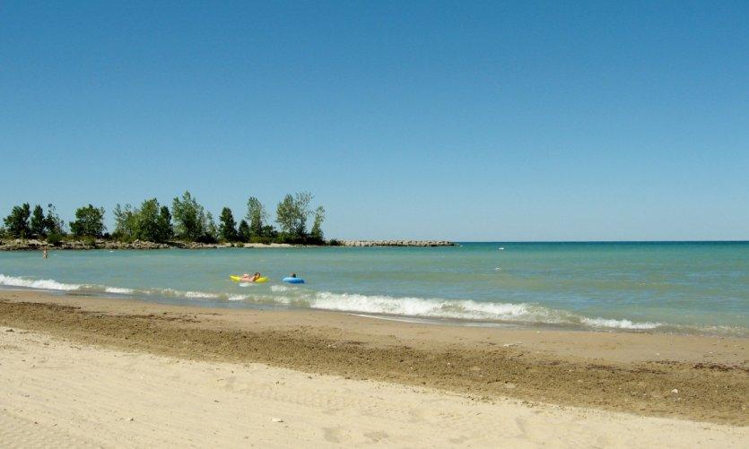 La plage Rotary Cove à Goderich.
