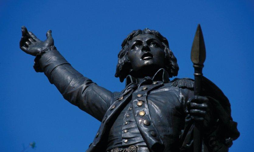 <p>La statue de Rouget de Lisle sur la place de la Chevalerie</p>