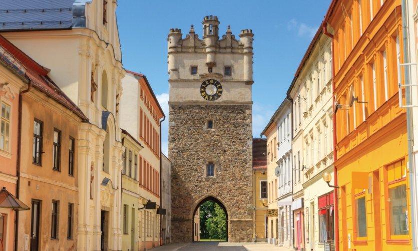 Porte de la vieille ville de Jihlava.