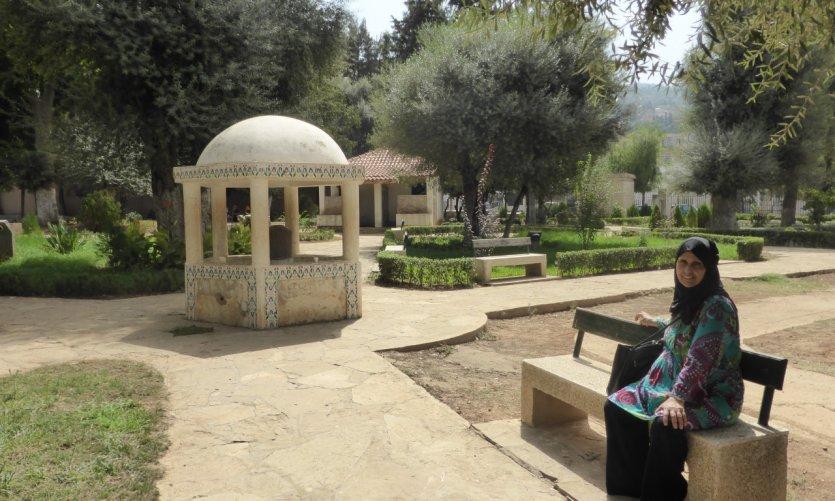 Jardín público de Blida.