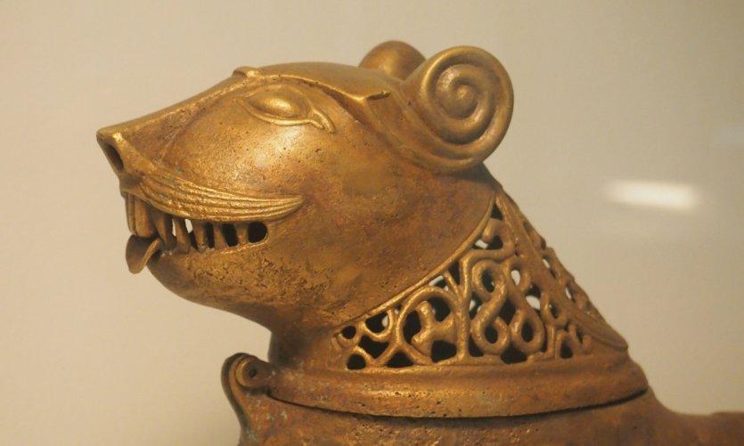 Bronze découvert à Ghazni, exposé au musée national de Kaboul.