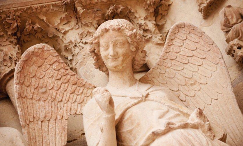 L'ange de la cathédrale de Reims.