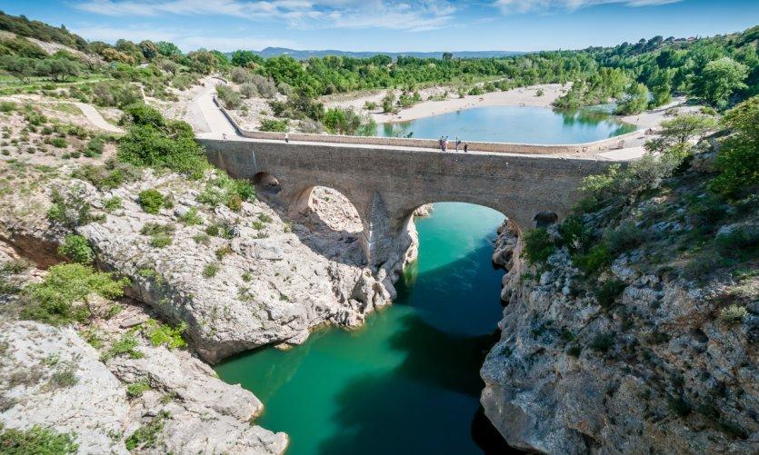 Le pont du Diable sur l'Hérault.