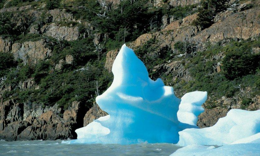 Bloc de glace flottant