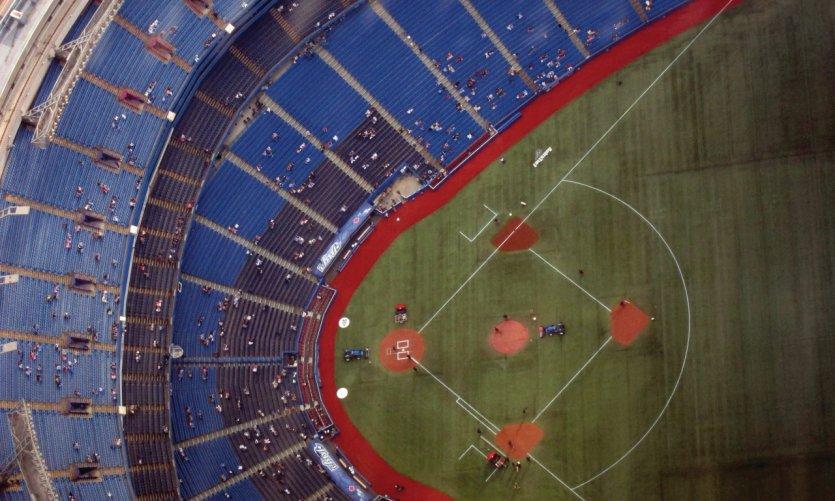 Match de baseball au Rogers Centre.