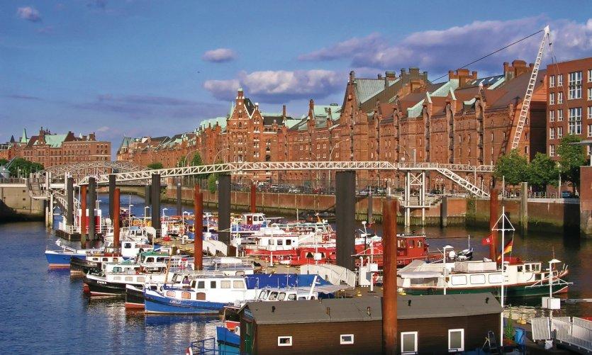 Le port de Hambourg.