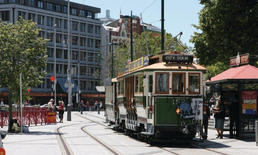 Tramway de Christchurch.