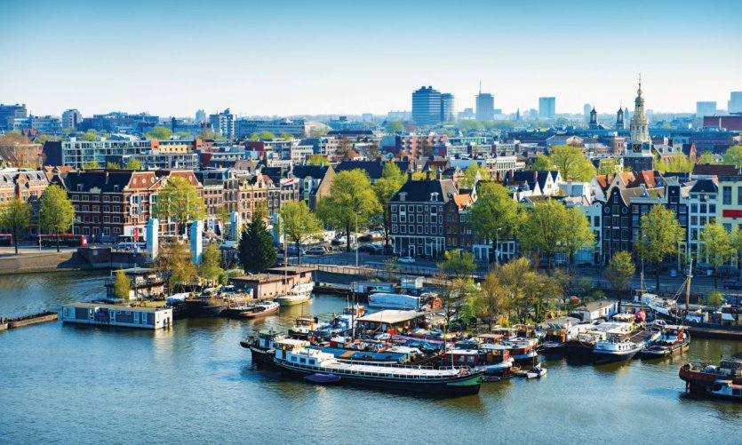 A view of Amsterdam.