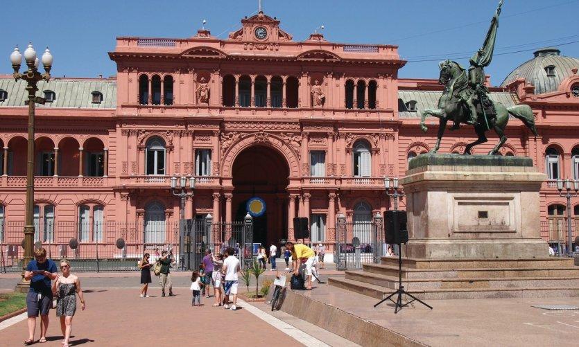 Casa Rosada, presidential palace.