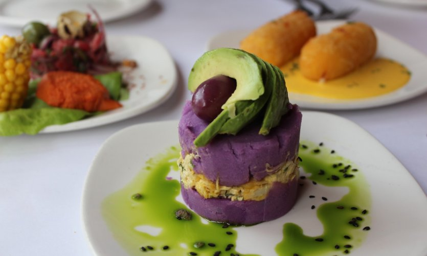 Assiettes dégustation à partager dans le restaurant Andina.