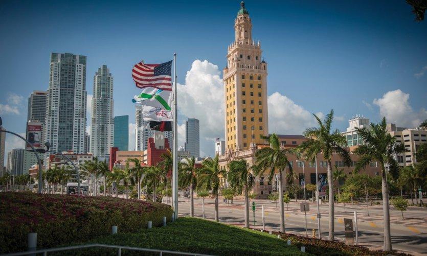 La Tour de la Liberté, qui abrite aujourd'hui le mémorial cubain de l'immigration.