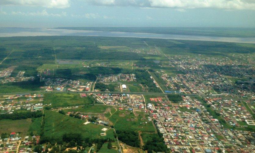 L'arrivée à Paramaribo.