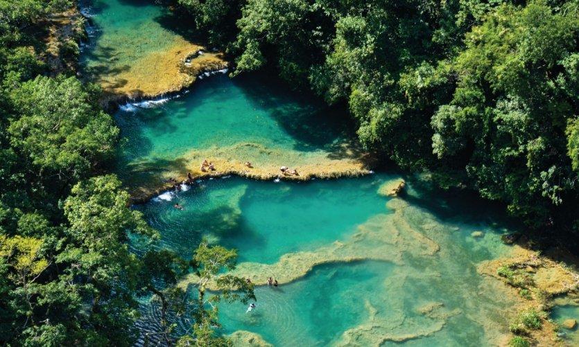 Les piscines naturelles de Semuc Champey.